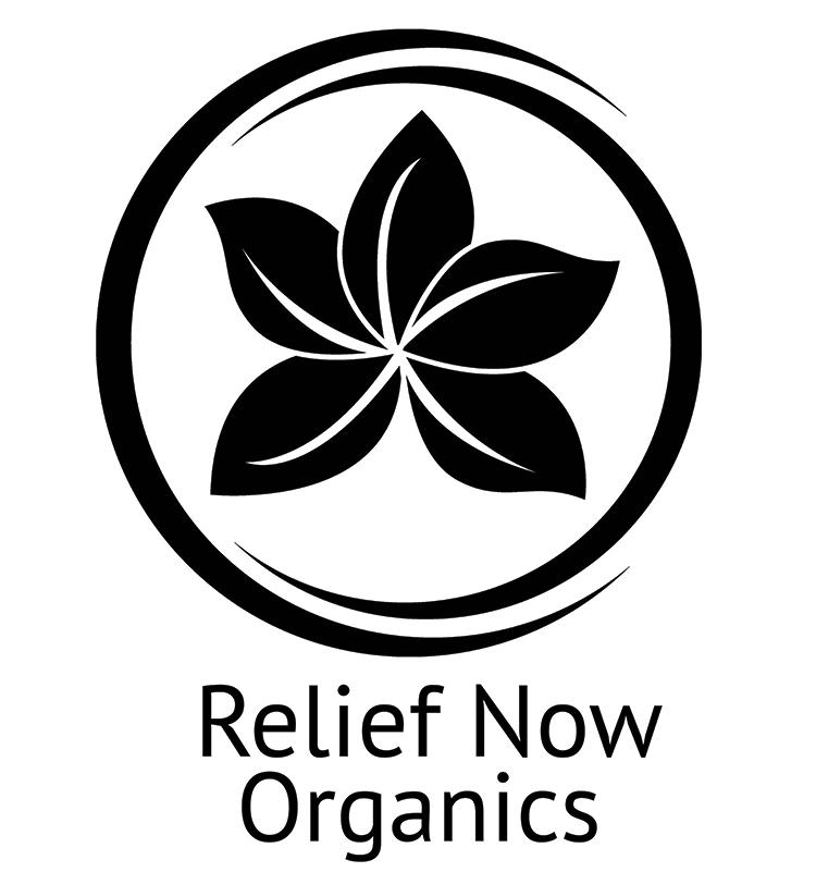 image: MK5K sponsor, Relief Now Organics logo
